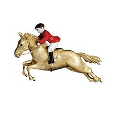 Gold & Enamel Horse and Rider Pin Horse Jewelry, Animal Jewelry, Scully And Scully, 18k Gold Jewelry, Charm Jewelry, Gold Brooches, Wildlife, Enamel, The Incredibles