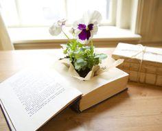 3 Creative DIY Planters - vintage book planter