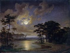 Holstein Sea Moonlight Painting  - Holstein Sea Moonlight Fine Art Print