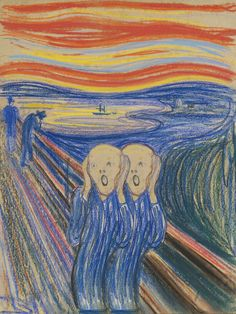 The Scream - Edvard Munch - 1895 Ernst Ludwig Kirchner, Henri Matisse, Wassily Kandinsky, Scream Parody, Henri De Toulouse-lautrec, Most Expensive Painting, Expensive Art, Expressionist Artists, Great Paintings