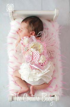 Rosa maternidad embarazo foto Prop Couture Baby marco para