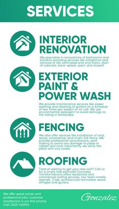 Gonzalez Transformations provides professional interior renovations in Lancaster and Douglas County, Nebraska. We are a growing company whose priorities are excellent work, accountability, and the satisfaction of our customers. Douglas County, Exterior Paint, Lancaster, Priorities, Nebraska, Home Improvement, How To Remove, Cleaning, Interior