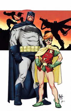 Dark knight Batman and Carrie Kelly Robin Batman Dark, Im Batman, Batman The Dark Knight, Batman Comics, Gotham Batman, Batman Robin, Dc Comic Books, Comic Book Characters, Dark Knight