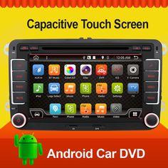 Quad 4 Core 7inch 2 din Multimedial Car DVD Player GPS Navigation For VW GOLF 6 new polo New Bora JETTA B6 PASSAT SKODA GPS Map