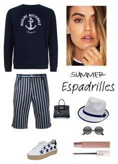 """""""Summer Casual"""" by kotnourka ❤ liked on Polyvore featuring Guild Prime, Sandro, Marc Fisher LTD, Hermès, Ace and Maybelline"""