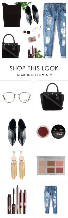 """Your Daily Flatlay no. 9"" by frustrated-designer on Polyvore featuring Ray-Ban and Kim Kwang"