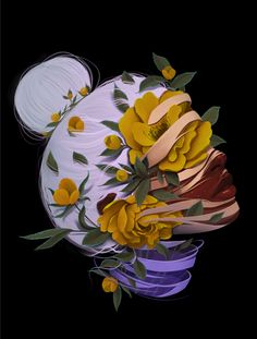 Digital art, Flowerhead, procreate Digital Art, Fine Art Prints, My Arts, Unique Jewelry, Handmade Gifts, Illustration, Artist, Vintage, Kid Craft Gifts