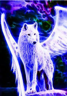 Lightning Strike. Her entire body is made of lightning. She became like this when she ate Skyfern and got struck by lightning at the same time. She is not afraid of anything and is the most loyal wolf you could ever meet.
