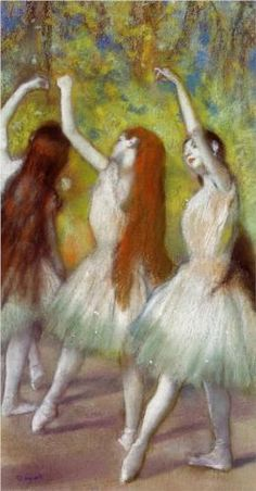 Dancers in Green - Edgar Degas