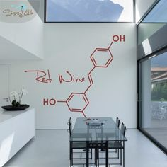 This person on Etsy makes molecular wall decals (large or small) for Red Wine, G&T, and Beer. If it makes sense in our new space, could commission them for some specific molecules and formulas related to our day job (whiskey, caipirinha, mojito, etc.)
