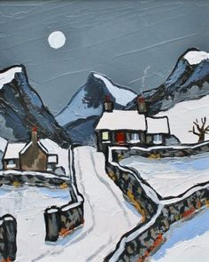 View all David BARNES art, paintings and contemporary British art at the Red Rag art gallery Small Paintings, Seascape Paintings, Landscape Art, Landscape Paintings, Norman Cornish, Painted Christmas Cards, Moonlight Painting, Building Painting, Ink In Water