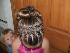 Gymnast hair for meets