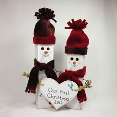 Snowman Couple for us it'd be our fourth christmas