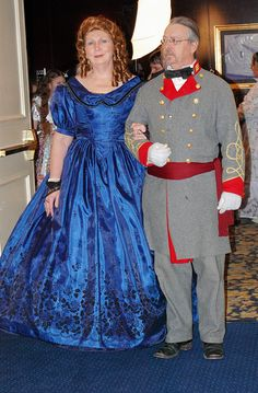 Reproduction of an 1860's Ballgown