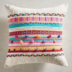 Discover unique patterned pillows and other decorative accent pillows at Pier 1 Imports. Cushion Cover Designs, Cushion Covers, Broderie Simple, Boho Cushions, Diy Cushion, Baby Pillows, Pillow Set, Cloud Pillow, Home Decor Trends