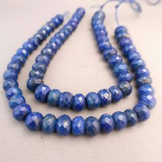 """Check out 84ct AA Genuine Natural Lapis Lazuli Beads Lapis Beads Faceted 6-8mm Rondelles Button Beads 7"""" Strand Free Ship LL3D1F0006 Lapiz on ungarimpex"""