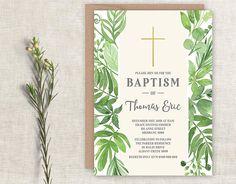 Printable Christening Invitation Baptism Invitation Holy