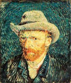Vincent van Gogh - Selbstbildnis mit grauem Filzhut