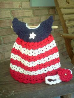 Crocheted Baby Pinafore Dress with by RavensCraftCreations on Etsy, $32.00