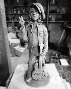 John Lennon sculpture clay Sculpture Clay, John Lennon, Modeling Dough