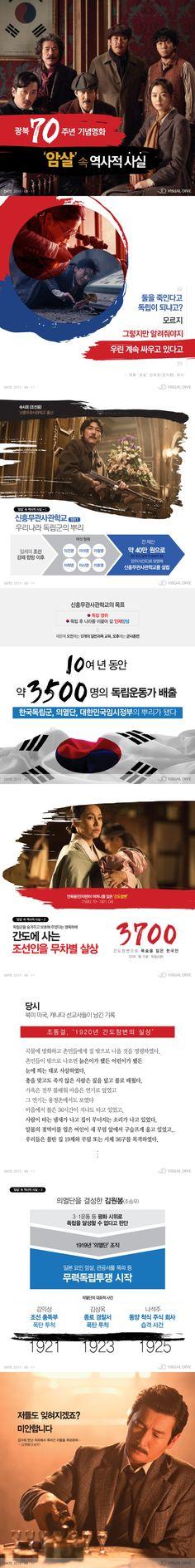 광복 70주년…영화 '암살' 속 역사 이야기 [카드뉴스] #Independence / #Infographic ⓒ 비주얼다이브 무단 복사·전재·재배포 금지