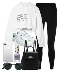 """""""Sin título #14567"""" by vany-alvarado ❤ liked on Polyvore featuring T By Alexander Wang, Madewell, Mulberry, Ray-Ban and Topshop"""