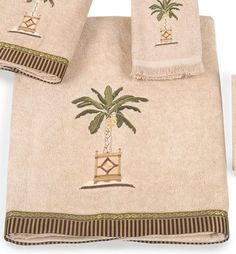 Banana Palm Bath Towel