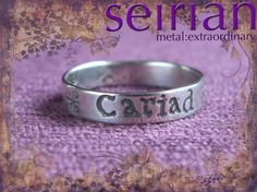 Cariad (Welsh for love) silver ring made to commission by me and available from www.seirian.me £40