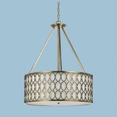 AF Lighting 8218-5H Candice Olson 5-Light Edison Base Pendant - Satin Brass