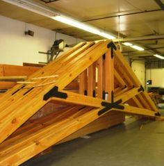 churches-grace-episcopal-church-scissor-truss-MA in 2020 Timber Roof, Roof Trusses, Timber Frame Homes, Timber House, Scissor Truss, Roof Truss Design, Wood Truss, Casas Containers, Timber Structure