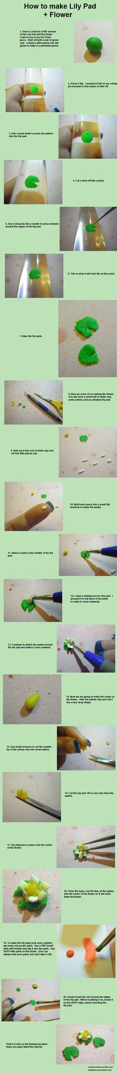 Lily Pad Tutorial 2/3 by *SmallCreationsByMel on deviantART