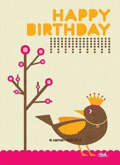┌iiiii┐                                                         Happy Birthday                                          Canadian Illustrator Carmen Mok