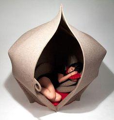 独立休息空间,能变帐篷的Hush座椅设计赏