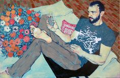 Hope Gangloff, Upstate Neighbor (Gavin Anderson) 56x84 in., acrylic on canvas