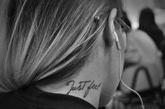 just feel tattoo typography