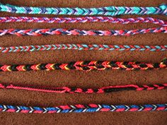 These photos represent a weekend of finger loop braiding with the expert, Ingrid Crickmore . This was the collection of work that I produc. Finger Weaving, Hand Weaving, Ring Bracelet, Ring Necklace, Fiber Art, Friendship Bracelets, Needlework, Knit Crochet, Braids