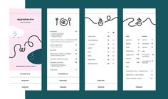 Wypiekarnia Cafe & Bakery by Natalia ? Bakery Branding, Bakery Menu, Restaurant Menu Design, Restaurant Branding, Menu Layout, Promotional Design, Bakery Design, Commercial Design, Layout Design