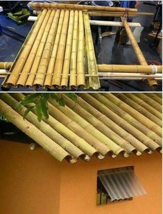 Bamboo In Pots Construction.Making Throwing A Square Pottery Clay Vase On The Wheel . Bamboo In Pots, Bamboo Roof, Bamboo Fence, Bamboo Construction, Construction Business, Construction Birthday, Construction Design, Types Of Timber, Bamboo House Design