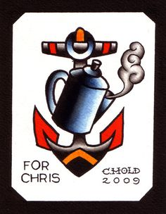Coffee & Anchor - My Token of Thanks by Chris Hold Feather Tattoo Design, Owl Tattoo Design, Feather Tattoos, Nature Tattoos, Flower Tattoo Designs, Flower Tattoos, Bird Tattoos, Little Tattoos, Tattoos For Guys
