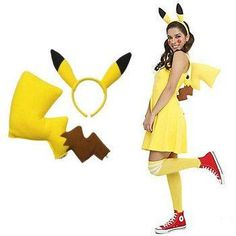 Now you can easily transform into everyone's favoritePokémon. This Pikachu Costume Kit comes with everything you need to go into battle andelectrocute any enemies!One size fits most