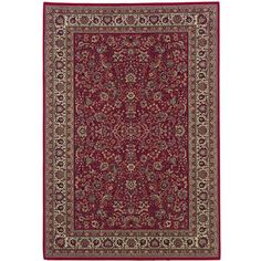 """The Conestoga Trading Co. Brighton Red/Ivory Area Rug Rug Size: 7'10"""" x 11'2"""""""