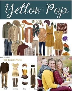 What to wear for fall family photos- lots of cute ideas
