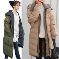 Gmarket - PPGIRL Long down jacket / full-zip / hooded / oversi...