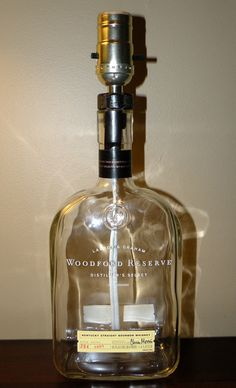 Another great CUSTOM LAMP for the holiays --  Woodford Reserve Bourbon Whiskey Bottle $25.00 + S/H