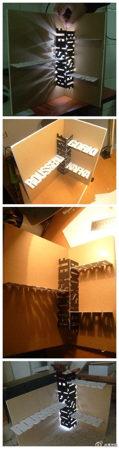 lampada lettere  - what a neat idea! Must try someday. :)