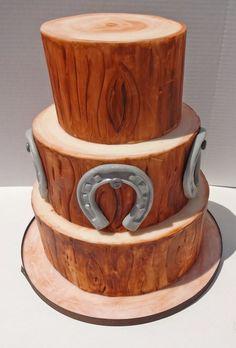 Hand painting Oak Wedding Cake