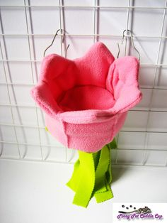 Pink flower sugar glider and rat pouch by PinoyPetCuddleCup, $9.00