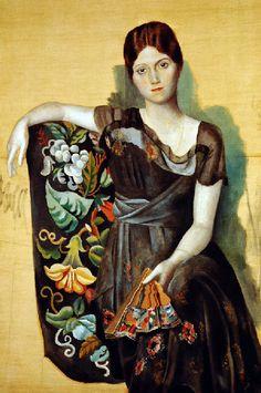 Picasso: Olga dans un fauteuil (1917).PinIt : Anónimo de Piedra