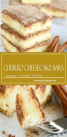 The crunchy cinnamon of churros combined with the creamy tanginess of cheesecake. Churro cheesecake bars are sure to become a favorite treat! An easy and delectable dessert recipe