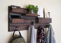 Hey, I found this really awesome Etsy listing at https://www.etsy.com/listing/249522505/entryway-organizer-wall-mounted-floating